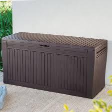 Suncast Resin Deck Box 50 Gallon by Keter Comfy 71 Gallon Resin Deck Box U0026 Reviews Wayfair