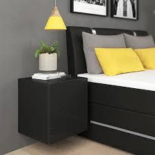 vicco nachttisch charles nachtschrank kommode schlafzimmer schwarz hochglanz
