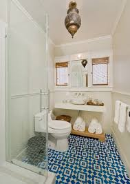 moroccan tile floor eclectic bathroom la dolce vita