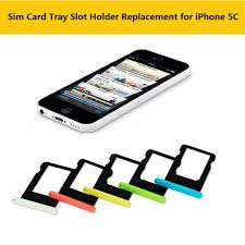 line Shop Colorful Sim Card Tray Slot Holder Replacement for