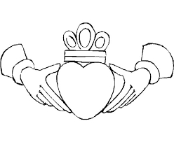Hands Crowned Heart In Colouring Page