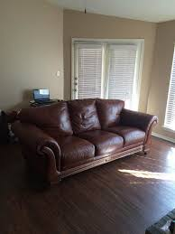 Chateau Dax Milan Leather Sofa by Leather Faux Leather Couch Question Please Help