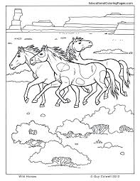 Horse Coloring Wild Free Printables
