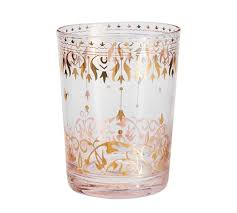Moroccan Double Old Fashioned Glass Set 4 Blush