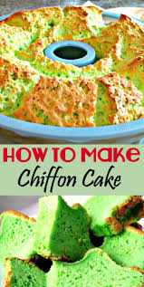 how to make a chiffon cake here i made a pandan flavour
