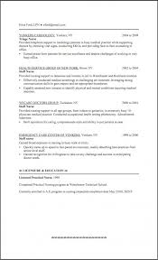 Lvn Resume Sample No Experience Lpn Resume Examples Nursing For