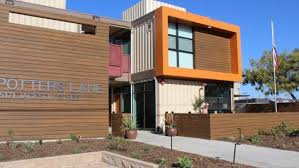 100 Shipping Containers California Homeless Veterans Move Into Apartment Built From