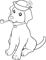 St Patricks Day Puppy Coloring Page