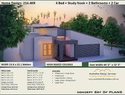 104 Skillian Roof Skillion House Plans 4 Bedroom House Plans Double Etsy