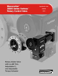 masoneilan 30000 series varimax rotary control valve rotary globe