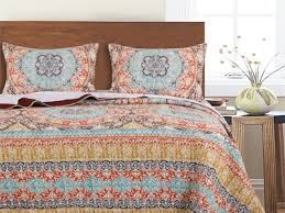Greenland Home Bedding by Olympia Quilt Set Gl 1706cmst Global Vintage Quilt Sets Bedding