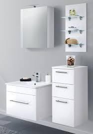 badezimmer kommode hängend viva in hochglanz weiß badschrank 35 x 75 cm badmöbel hängeschrank