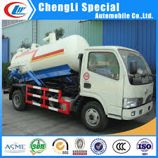 Mobile Small Sewer Vacuum Suction Tanker Dongfeng 3ton Sewage ...