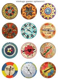 Vintage BOARD GAME SPINNERS W 125 In Added By Vintagewarehouse 375