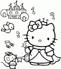 Coloriage Hello Kitty Grand Format Ancenscp Coloriage Grand Format