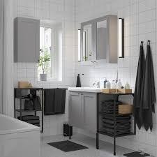 enhet tvällen badezimmer set 14 tlg grau rahmen anthrazit lillsvan mischbatterie 122x43x87 cm