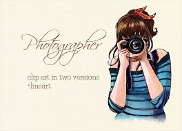 graphy clipart woman photographer 6