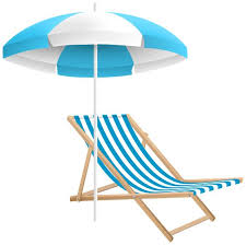 Beach Chair And Umbrella PNG Clip Art Transparent Image