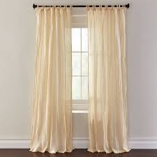 Brylane Home Curtain Panels by Cassie Crinkle Cotton Tie Top Panel Set Of 2 Curtains U0026 Drapes