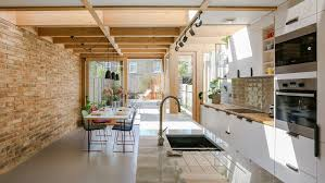 100 Terraced House Designs Timber Portals Frame Large Windows And Skylights In This