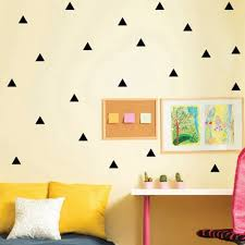 triangles wall sticker room wall decoration gold triangles