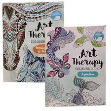 Image Is Loading Art Therapy Coloring Book Menagerie And Aquatica Perforated