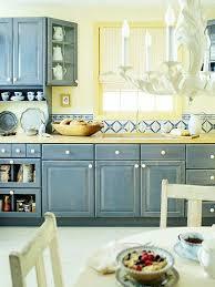 Cottage Kitchen Design Ideas Blue Yellow