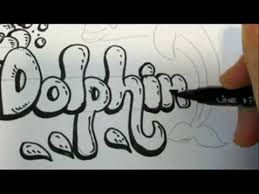 How To Draw Bubble Letters And a Dolphin