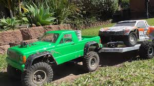 100 Scale Rc Trucks 4x4 Trucks Rc 4x4 Truck Tow Recovery With Rc Car Trailer