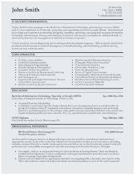 Sample Resume For Network Security Engineer Best Analyst Examples About Template And It