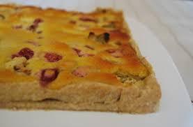 cuisiner la rhubarbe tarte à la rhubarbe amandine clea cuisine