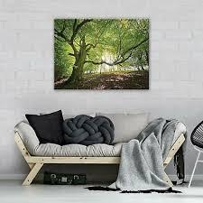 canvas leinwand bilder baum bild wandbild wohnzimmer schlafzimmer wald