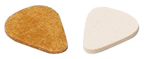 Dunlop 8012P Standard Felt Picks - Natural, 3.2mm, Pack of 3