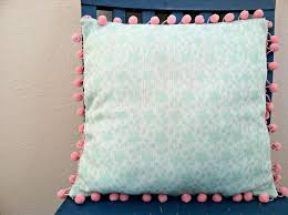 Beautiful Somehow Pom Poms Pillows and Passing Things Down