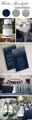Winter Wedding Color Scheme Navy And Silver Glitter Colors
