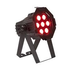 lightmaXX Platinum LED mini PAR Tri LED 7x3 Watt RGB Tri LEDs Black