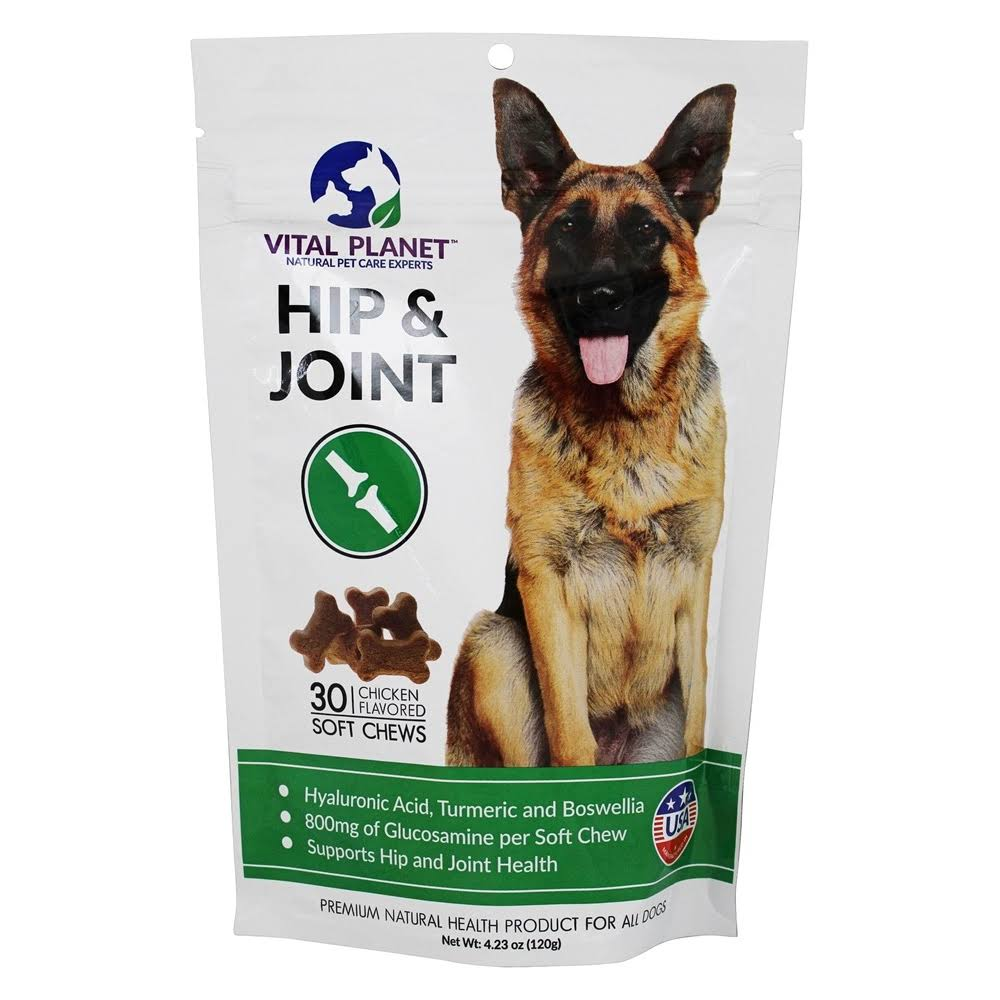 Vital Planet Hip & Joint Dog Chews - Chicken, 30 Chews