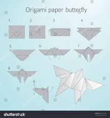 Origami Butterfly Vector Elegant Paper Step By Stock