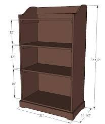 ana white kids storage bookshelf diy projects