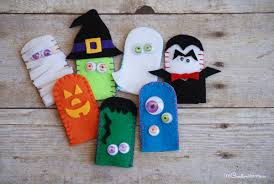 Fun Felt Halloween Finger Puppets A Cool Craft To Make With Your Kids