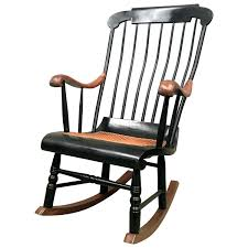 Style Rocking Chair With Woven Seat And Black Painted Wicker Outdoor ... Wicker Rocking Chair Grey At Home Windsor Black Rocker And End Table Set With Patio Resin Steel Frame Outdoor Porch Noble House Harmony With White 3pc Cushion Good Looking Glider Big Plans Sw Chairs Lounge Dark Brown Amazoncom Cloud Mountain 3 Piece Bistro Decorating Rockers Gliders Coral Coast Casco Bay