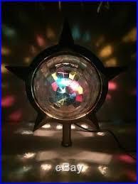 Vintage Bradford Celestial Star Retro Spinner Lamp Christmas Tree Topper