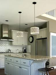 kitchen island pendant light white green cabinet with fixtures