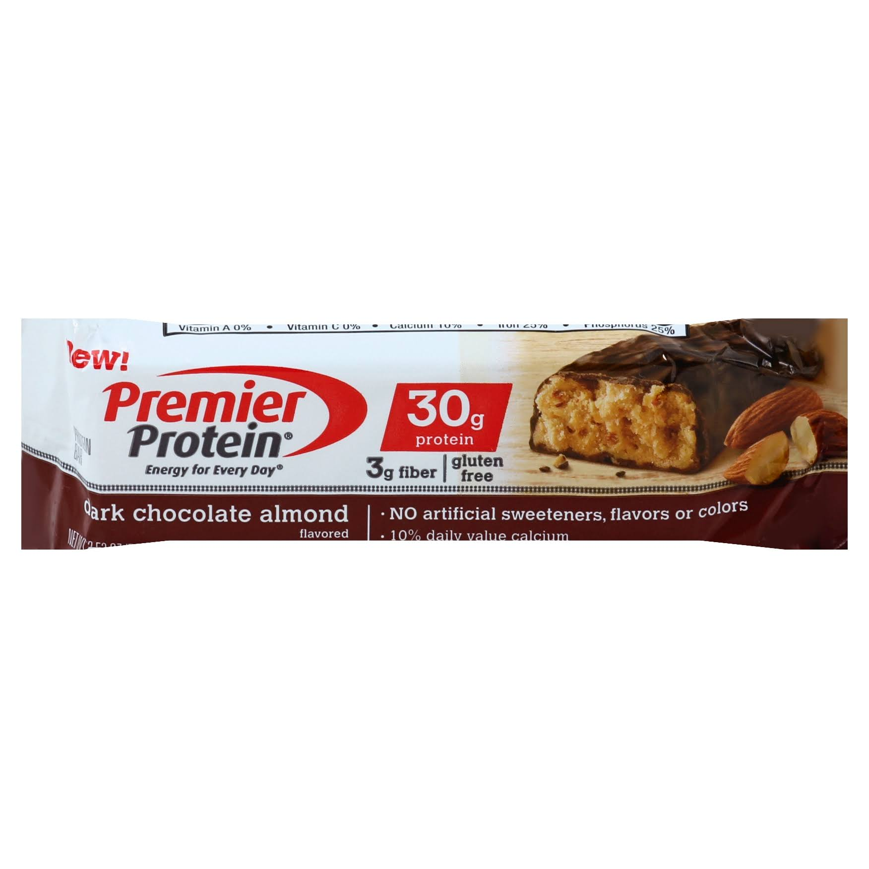 Premier Protein Protein Bar, Dark Chocolate Almond Flavored - 2.53 oz