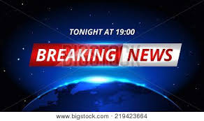 Breaking News Live Background Banner With Shining Planet In Space Business Or Technology