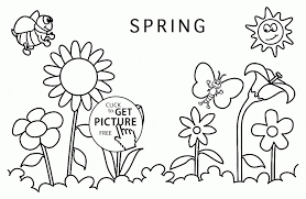 Easy To Draw Spring Pictures Picture Of Season For Drawing How