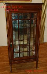 Italian Display Cabinet Vitrine With 1 Door Beveled Glass French Louis Furniture Egypt Egyptian