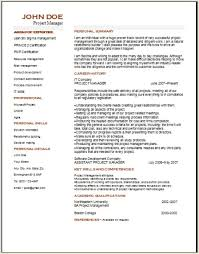 Project Management Resume Occupationalexamplessamples Free Edit