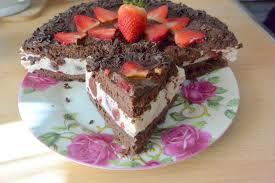 quark erdbeere schoko torte