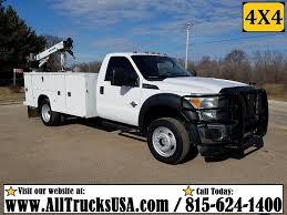 100 Mechanics Truck 2012 Ford F550 4X4 REGULAR CAB 67 DIESEL 3200 Lb CRANE MECHANICS